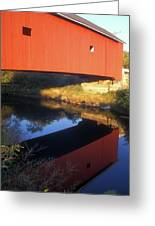 Carleton Covered Bridge Reflection Greeting Card
