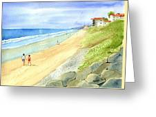 Carlsbad Beach Greeting Card