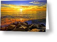 Carlsbad Sunset Greeting Card