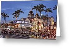 Carlsbad Village Sign Lighting Greeting Card