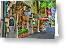 Carmel, Ca. The Shops Of Ocean Ave. Greeting Card