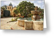 Carmel Church And Fountain Greeting Card