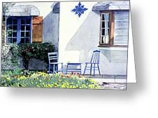 Carmel Cottage With Orange Greeting Card by David Lloyd Glover
