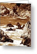 Carmel Highlands 8 Sepia Greeting Card