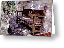 Carmel Mission Bench Greeting Card