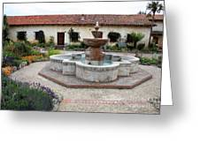 Carmel Mission Courtyard Greeting Card