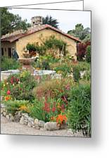 Carmel Mission Courtyard Garden Greeting Card