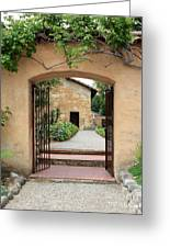 Carmel Mission Path Greeting Card