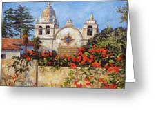 Carmel Mission Greeting Card by Shelley Cost
