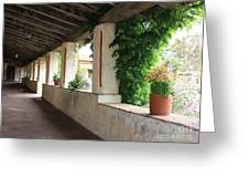 Carmel Mission Walkway Greeting Card