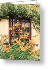Carmel Mission Window Greeting Card