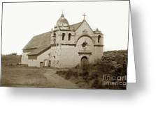 Carmel Mission  With The New Peaked Roof  1884 Greeting Card