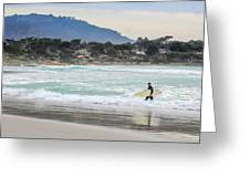 Carmel Surf Greeting Card