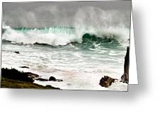 Carmel Wave Rock Greeting Card