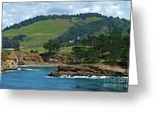 Carmelite Monastery Near Point Lobos Greeting Card