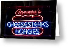 Carmens Cheesesteaks Greeting Card