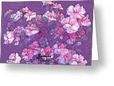 Carnation Inspired Art Greeting Card