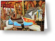 Carnival Carousel Greeting Card by Dressage Design