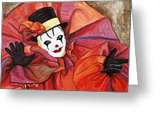 Carnival Clown Greeting Card