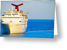 Carnival Cruise Ship Greeting Card