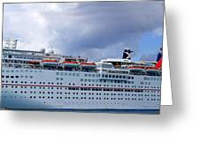 Carnival Cruise Ship Greeting Card