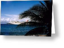 Carnival Docked At Grand Cayman Greeting Card