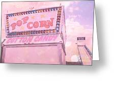 Carnival Festival Popcorn Cotton Candy Slide Fun Greeting Card