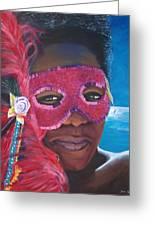 Carnival Mask 1 Greeting Card