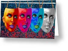 Carnival Masks Greeting Card