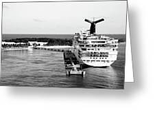 Carnival Sensation Cruise Ship - Grand Turk Island Greeting Card