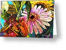 Carnivale Flori Greeting Card