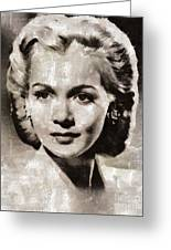 Carole Landis, Vintage Actress Greeting Card