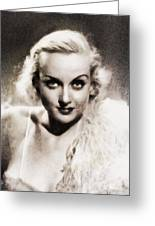Carole Lombard, Vintage Actress By John Springfield Greeting Card