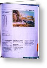 Carole Spandau Listed In Magazin'art Biennial Guide To Canadian Artists In Galleries 2002-2003 Edit Greeting Card