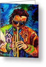 Carole Spandau Paints Miles Davis And Other Hot Jazz Portraits For You Greeting Card