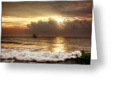 Carolina Beach Shrimp Boat At Sunrise Greeting Card