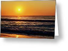 Carolina Beach Sunrise Greeting Card