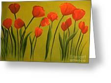 Carolina Tulips Greeting Card