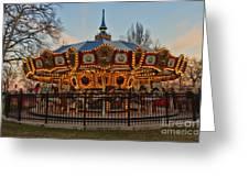 Carousel At Dusk Greeting Card