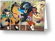 Carousel Beauties Greeting Card