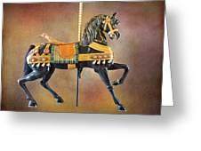 Carousel Black Stallion Body Greeting Card
