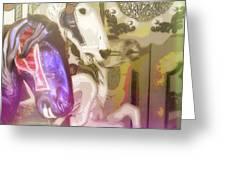 Carousel Gallop Greeting Card