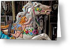 Carousel Horse And Angel Greeting Card by Garry Gay