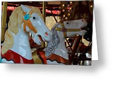 Carousel Horses At A Fair Greeting Card