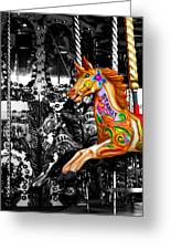 Carousel In Isolation Greeting Card