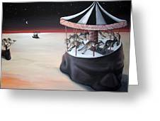 Carousel In The Head Greeting Card by Charlotte Oedekoven