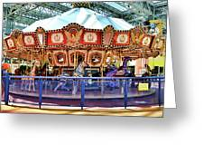 Carousel Inside The Mall Greeting Card