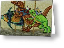 Carousel Kids 3 Greeting Card