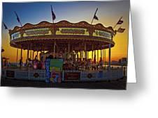 Carousel Sunset Greeting Card
