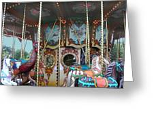 Carousel With Mirrors Greeting Card
